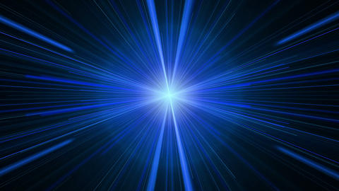 Blue Rays of Light, Twinkling Light Streaks Animation