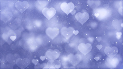 Big moving Romantic Spinning Dangling Glowing Love Hearts... Stock Video Footage