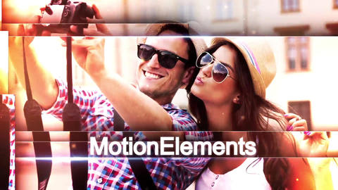 Multiline Slideshow After Effects Template