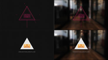 Grid Logo Opener Triangle logo After Effects Template