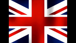 Great Britain flag Footage