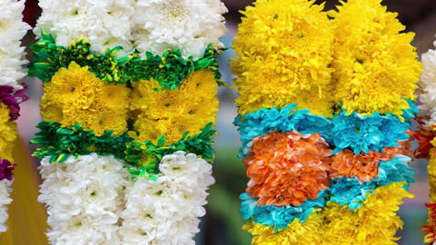 Indian flower garlands Footage