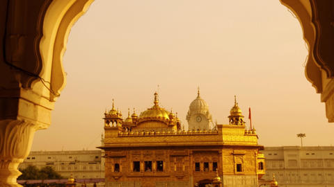 Golden Temple sunset Footage