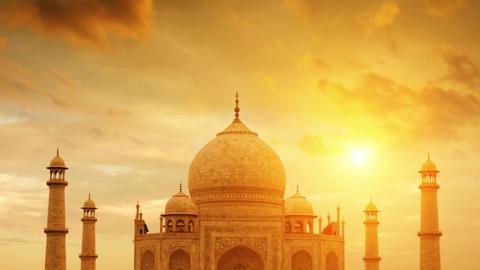 Taj Mahal India Footage