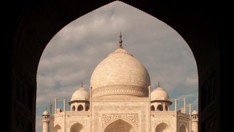 Taj mahal door arch view Footage