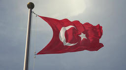 Turkish Flag in Slow Motion Loop - TURKEY ビデオ
