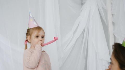 Unbridled joy of little girl Footage
