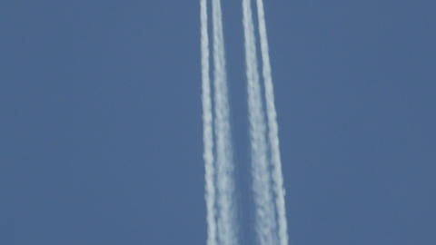 Chem trails concept, on an airplane Footage