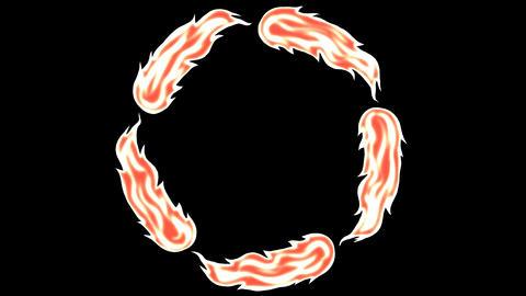 Fire circle Animación