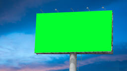 Blank Billboard with Moving Clouds GIF