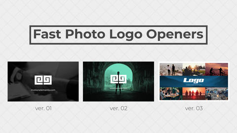 Fast Photo Logo Openers After Effects Template