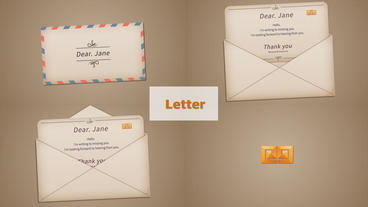 N 18032001 Letter Plantilla de After Effects