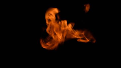 Fierce fire flames 03 Footage