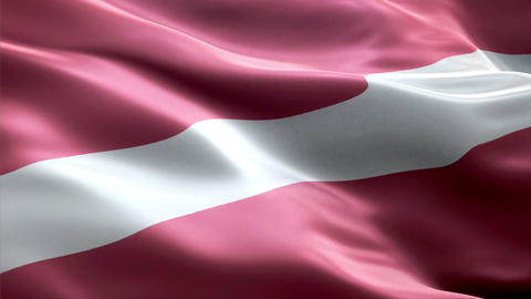 Flag Latvia Animation