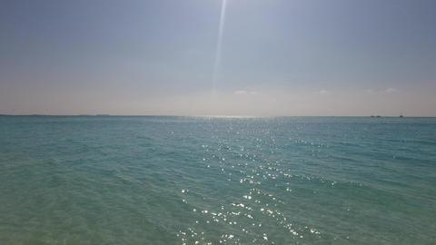 sea and sky on maldives beach Footage