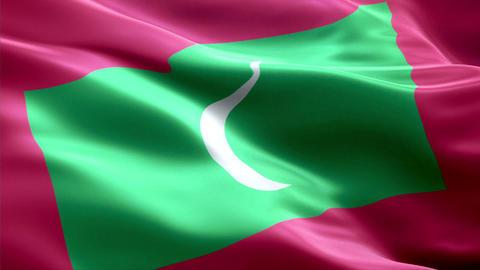 Flag Maldives Animation