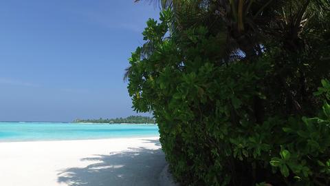 access to sea on maldives beach Footage