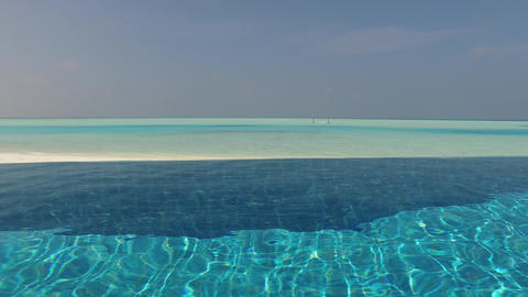 swimming pool with fresh water on maldives beach Live Action