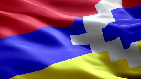 Flag Nagorno---Karabakh Animation
