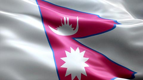 Flag Nepal Animation