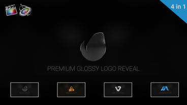 Premium Glossy Logo Reveal Apple Motionテンプレート