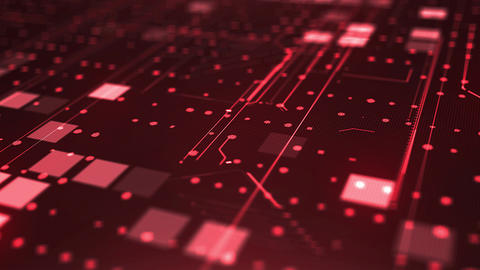 Red abstract digital background Animation