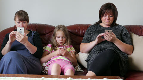 People Addicted To Gadgets, Lack Of Live Communication Relationship Online Live Action