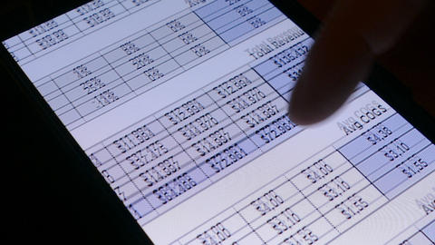 Checking the financial status of businesses in the smartphone screen GIF