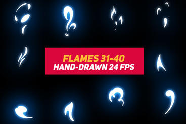 Liquid Elements 2 Flames 31-40 After Effects Template