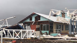 Hurricane completely destroyed the house, the consequences of the hurricane Footage