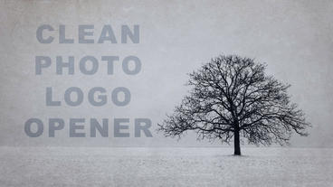 Clean photo logo opener Apple Motion-Vorlage