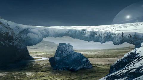 Fantastic Landscape Animation. UFO ver. 05 Animation