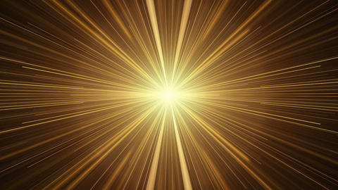 Yellow Rays of Light, Twinkling Light Streaks Animation