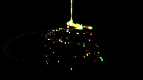 Particle cone CG動画素材