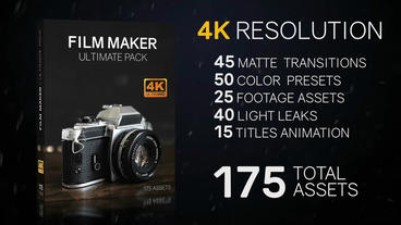 175 Film Maker Assets - Ultimate Pack 4K Premiere Proテンプレート