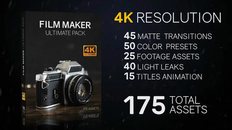 175 Film Maker Assets - Ultimate Pack 4K Premiere Pro Template