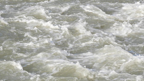 Turbulent river flow. timelapse Footage
