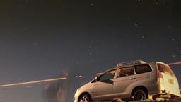 Car adventure travel night desert Footage