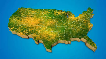 America country map satellite camera zoom in sky effect shot visualization After Effects Template