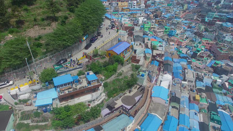Aerial of Gamcheon Culture Village 12 Live Action