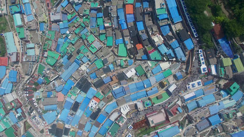 Aerial of Gamcheon Culture Village 26 Live Action