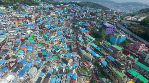 Aerial of Gamcheon Culture Village 04 Footage