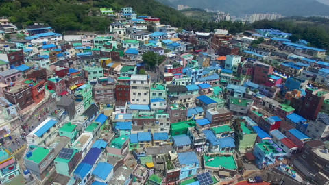 Aerial of Gamcheon Culture Village 06 Live Action