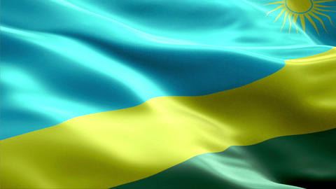 Flag Rwanda Animation