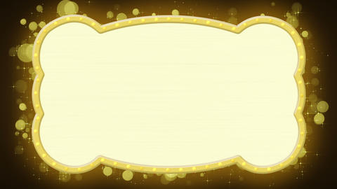 shiny gold banner loopable animation Animation