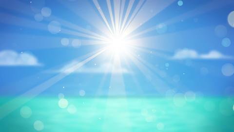 blurred sun over sea seamless loop Animation