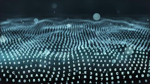 digital hexadecimal symbols flowing loopable Animation
