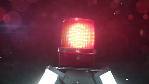 rotating red siren light Footage