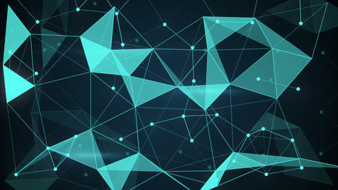 futuristic techno shape polygon background loop Animation