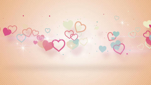 heart shapes with shadow seamless loop animation Animation